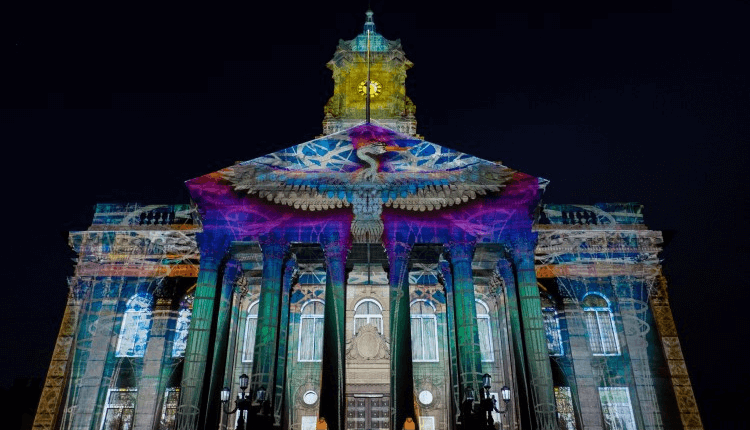 Birkenhead Town Hall with Projection