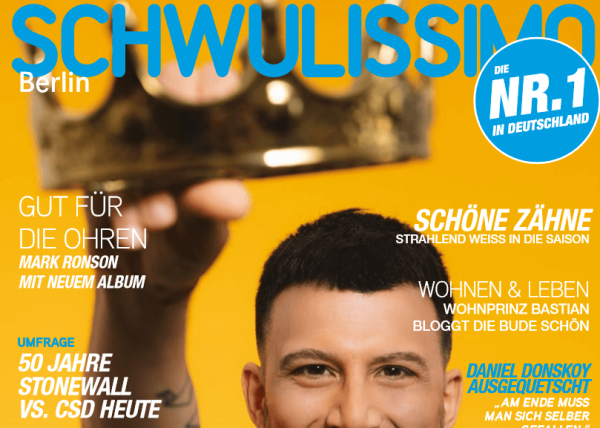 Schwulissimo front page of August edition